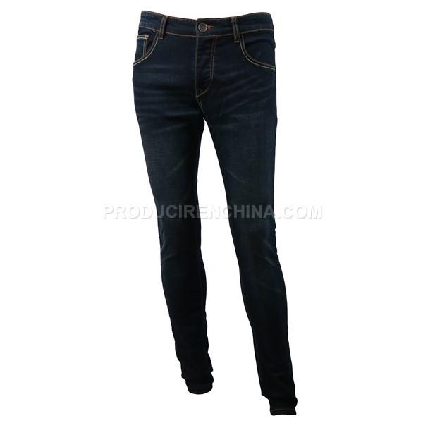 Pantalón de hombre, jeans oscuro y elegante.