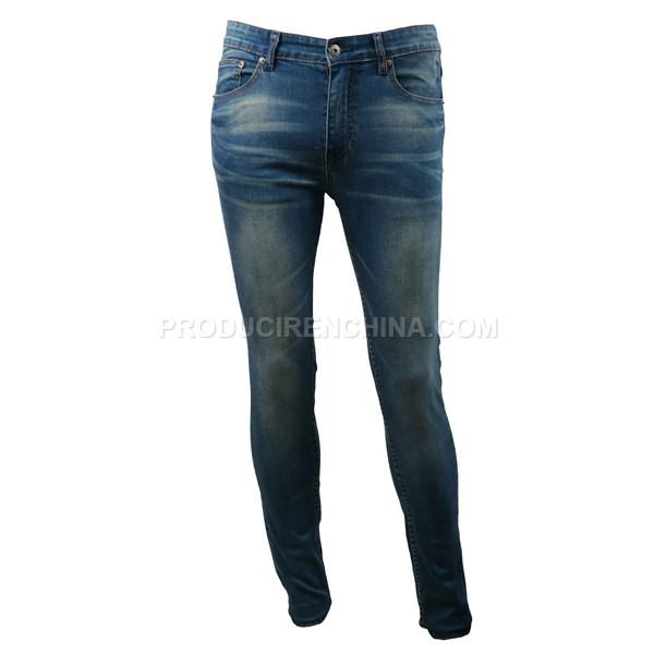 Pantalón de hombre con lavado moderno, slim fit, buena calidad, fabricado en China