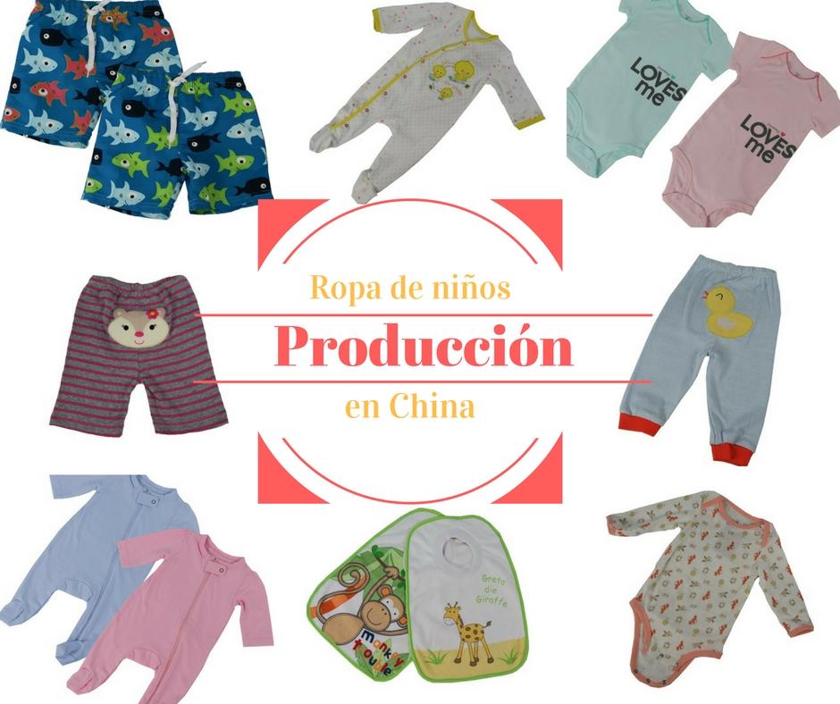 ropa de niňos y bebés, producción, China