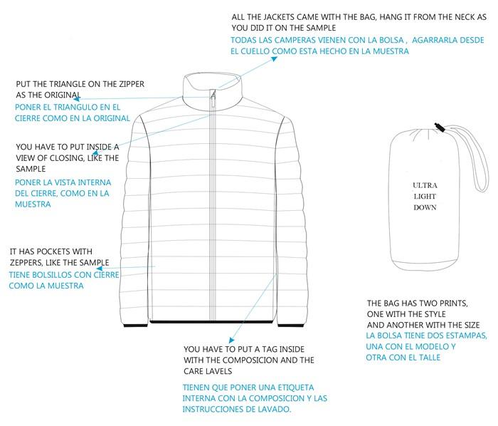 Ficha técnica para poder producir ropa en China. Fabricación de indumentaria a medida en China.