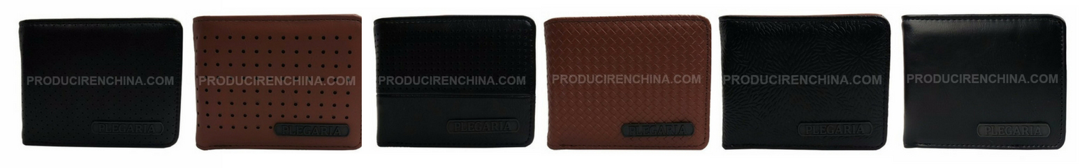 PU wallets manufactured in China for PLEGARIA brand.