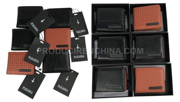 PU wallets manufacturing, manufacturing in China, wallets for PLEGARIA brand