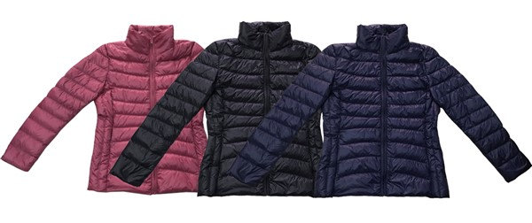 Women down jacket manufacturing in China according to customer's requirements.