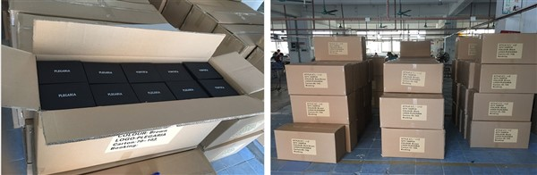 Goods preparation for local preparation. Wallets produced in China by CTS.