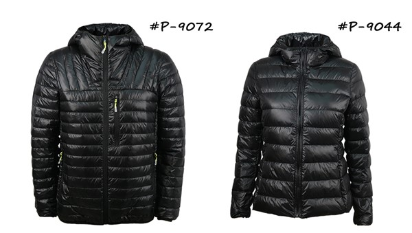Down jackets manufactured in China by CTS.