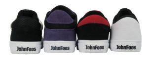 Muestras de fabricación para la marca John Foos, capelladas y zapatillas vulcanizadas