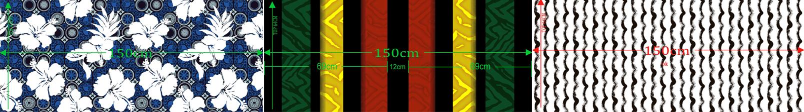 Muestra de impresión de tela en versión digital, tela con impresión usada para la producción de trajes de baño en China