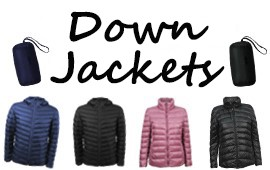 Order of 1800 generic down jackets for whole sale in Argentina.