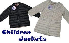 Children down jacket and coats manufacturing for well known brand PIOPPA.
